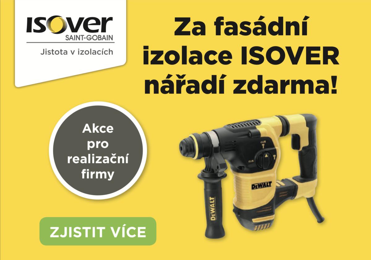 Za fasádní izolace ISOVER nářadí zdarma!